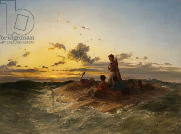 The Raft, 1850 (oil on canvas)