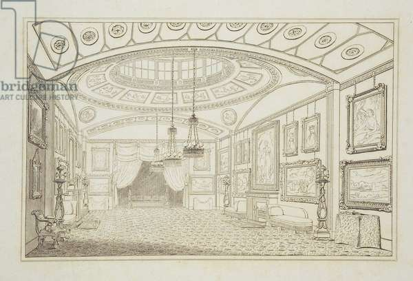 Lord De Tabley's British Gallery at Hill Street, 1818 (engraving)