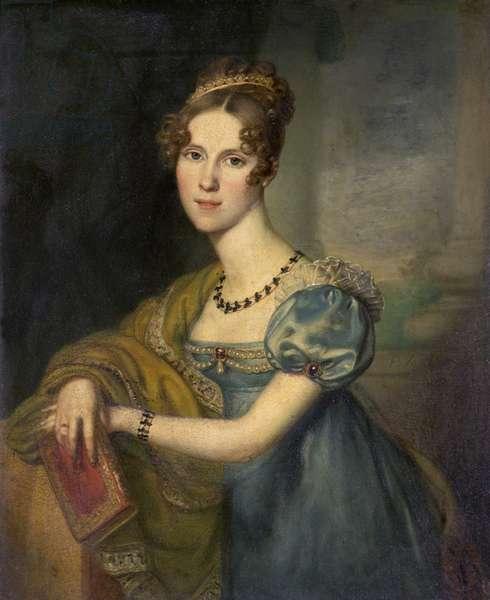 Henrietta Fane, Countess de Salis (oil on copper)