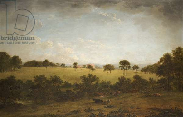 Tabley: The Park with a Distant View of the House (oil on canvas)