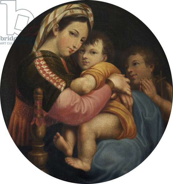 The 'Madonna della Sedia' (oil on canvas)