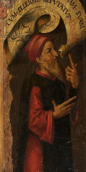 A Saint (oil on board)