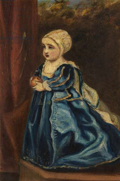 Portrait of a Princess, Daughter of King Charles I (oil on board)