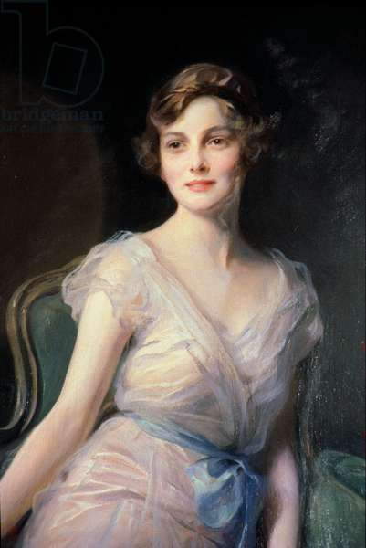 Detail of Portrait of Miss Leicester-Warren, 1929 (oil on canvas)
