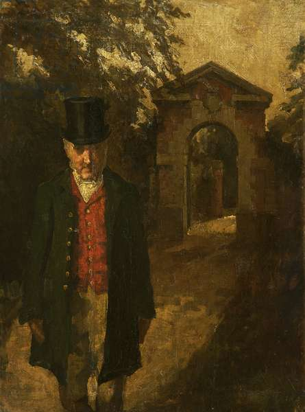 Paul, the Porter at Tabley Hall (James Hall, Porter at Tabley for 40 Years) (oil on canvas)