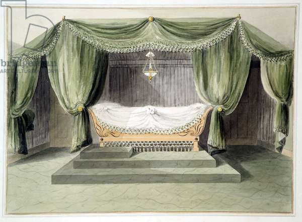 Design for a tented room, c.1806 (w/c over pencil on paper)