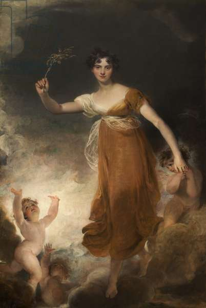 Portrait of Georgina Maria, Lady Leicester as 'Hope', 1814 (oil on canvas)