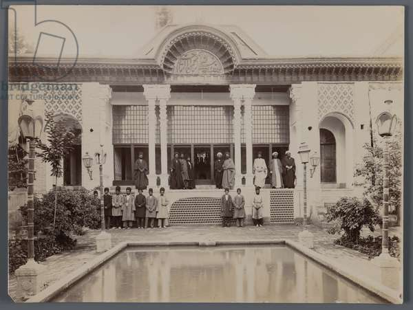 A Group of Religious Men in a Garden, late 19th-early 20th century (silver gelatin print)