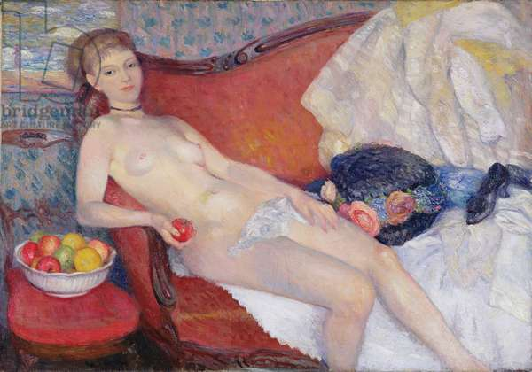 Nude with Apple, 1909-10 (oil on canvas)