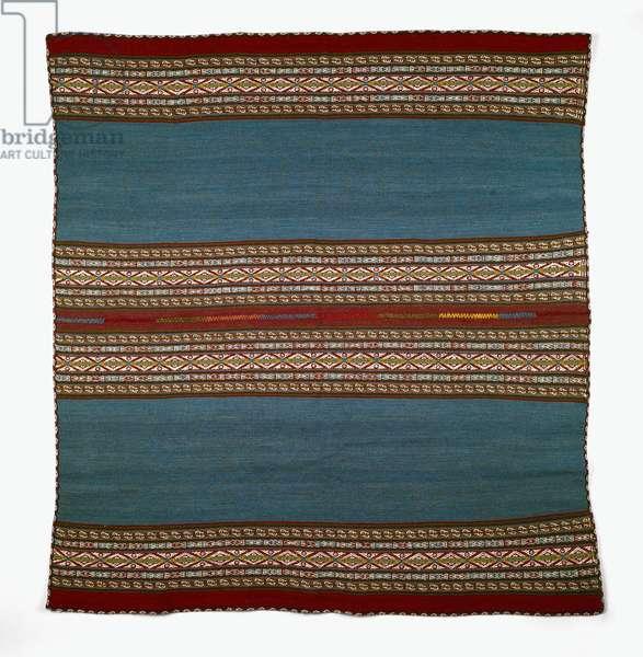 Woman's shawl (llqlla) Chinchero, Peru, 2002 (sheep wool with natural & synthetic dyes)