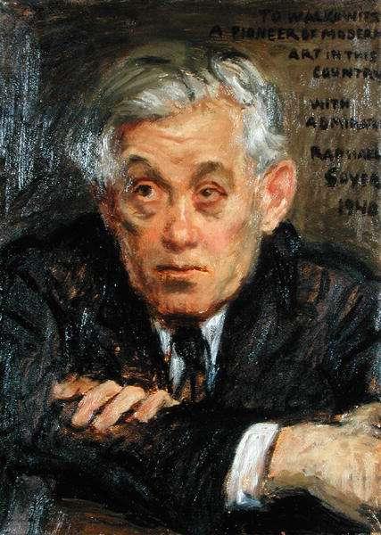 Portrait of Abraham Walkowitz (1878-1965) (oil on canvas)