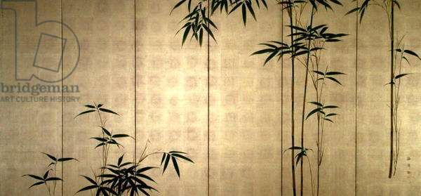 Young Bamboo, c.1850 (colours on gold leaf applied to paper)