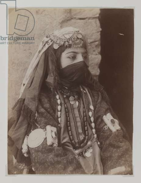 Portrait of a female member of the Shah's family (silver albumen photo)