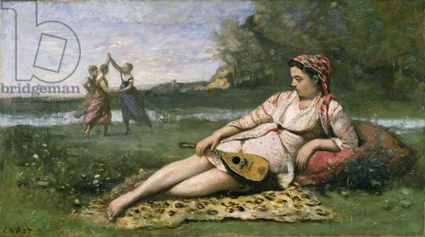 Young Women of Sparta (or Gypsy Reclining) c.1868-70 (oil on canvas)