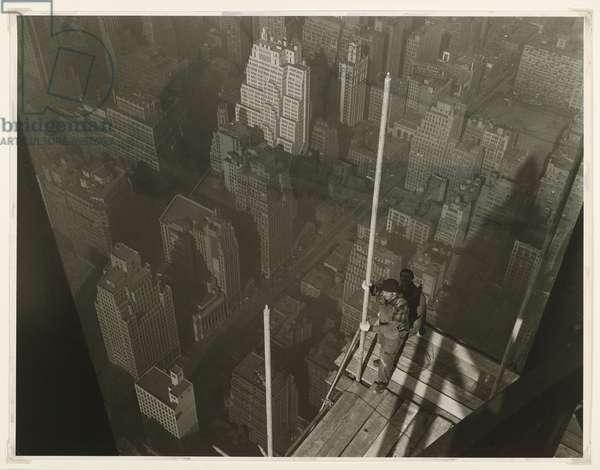 Raising the Mast, Empire State Building, 1931 (gelatin silver photo)