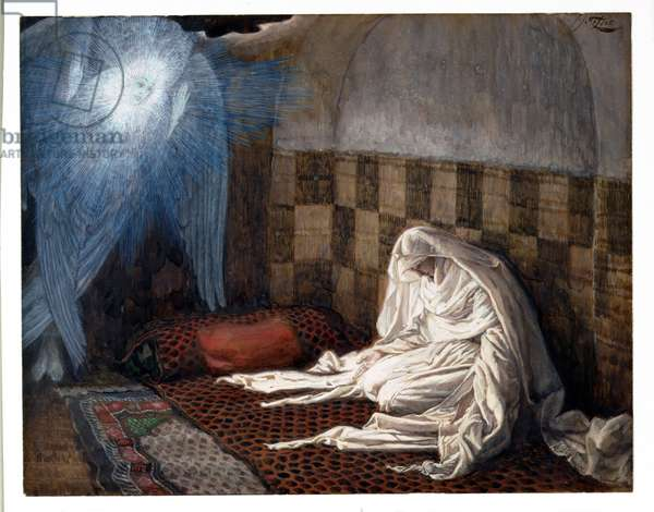 Annunciation, illustration for 'The Life of Christ', c.1886-96 (gouache on paperboard)