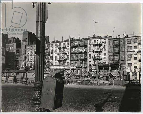 Old Law Tenements, Forsythe and East Houston Streets, 1937 (gelatin silver photo)