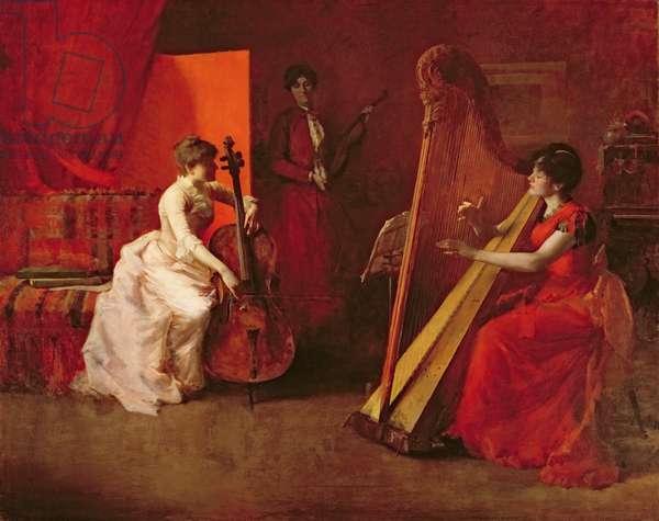 The Trio, 1886 (oil on canvas)