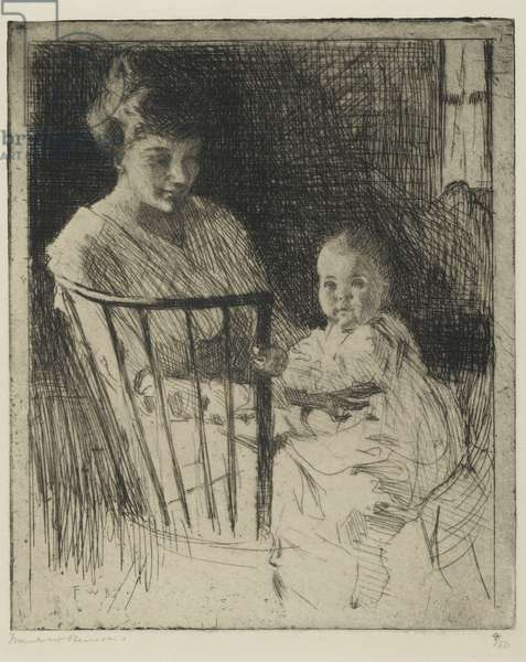 Mother and Child (etching with some dry point)