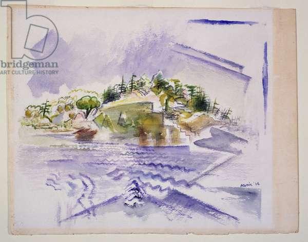 Deer Isle, 1914 (w/c on paper)