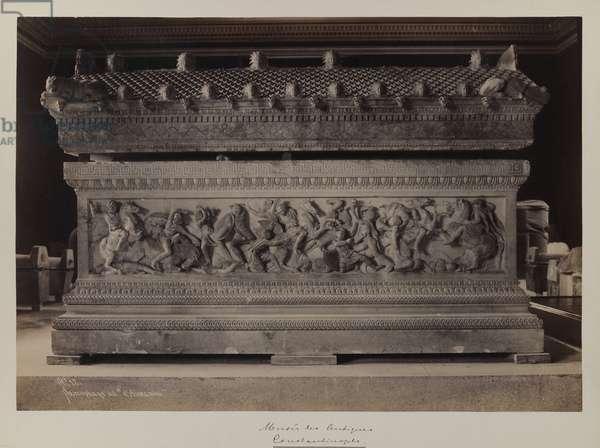 Sarcophagus of Alexander (gelatin silver print)