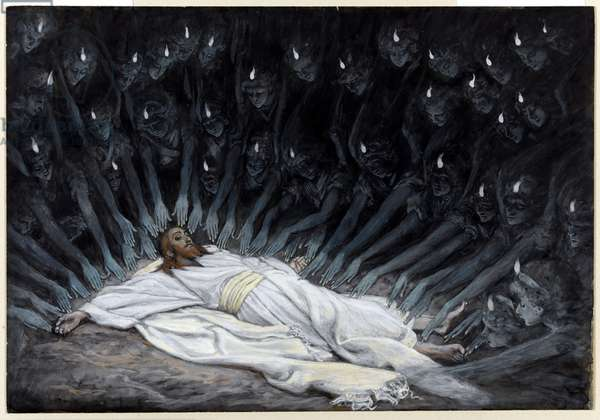 Angels Came and Ministered unto Him, illustration for 'The Life of Christ', c.1886-94 (w/c & gouache on paperboard)