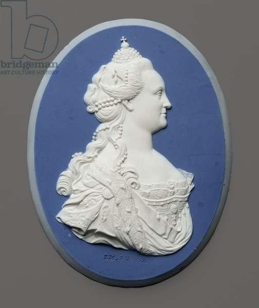 Portrait medallion of Empress Catherine II of Russia, c.1775 (jasperware)