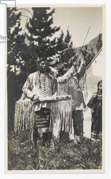 Untitled (Two Chiefs, One with Bow and Arrow), c.1900 (gelatin silver print)