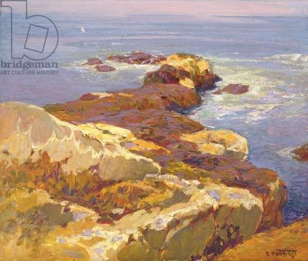 Rocks and Sea (oil on canvas)