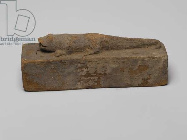 Small coffin for a crocodile, 664-332 BC (wood)