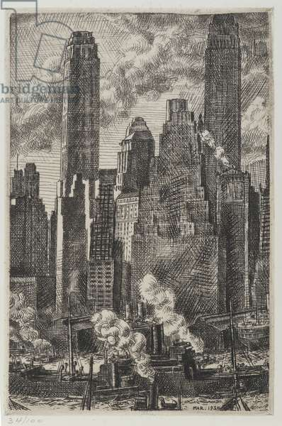 Wall Street, 1931 (etching)