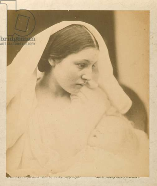 La Madonna Riposata / Resting in Hope, 1864 (albumen silver photo)