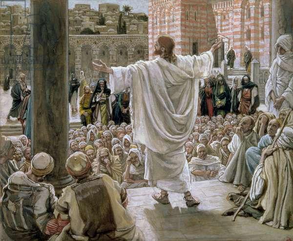 'Jerusalem, Jerusalem', illustration for 'The Life of Christ', c.1886-96 (gouache on paperboard)