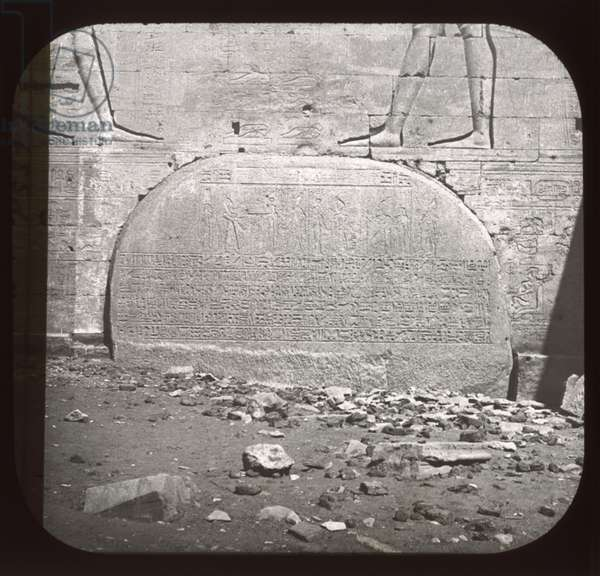Philae, Great Temple Gallery (lantern slide)