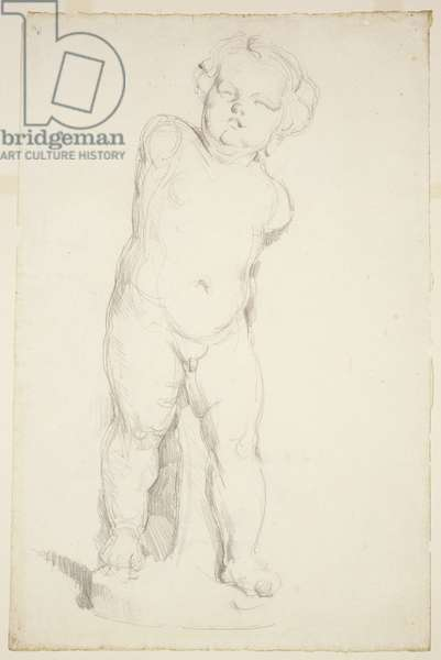Cupid in Plaster, 1890-95 (pencil on laid paper)
