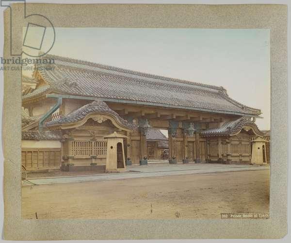 Prince House at Tokyo, Japan (hand-coloured b/w photo)