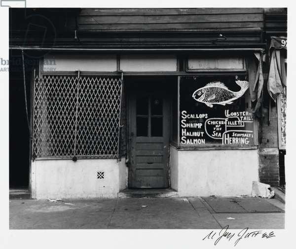 Fish Market Storefront (Blake Avenue) from the Series 'An Era Past: Photographs of Brownsville and East New York, Brooklyn', 1951, printed 1994 (gelatin silver print)