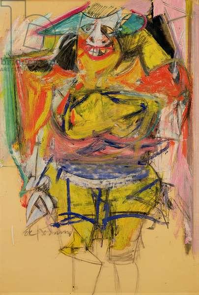 Woman, 1953-54 (oil on paper board)