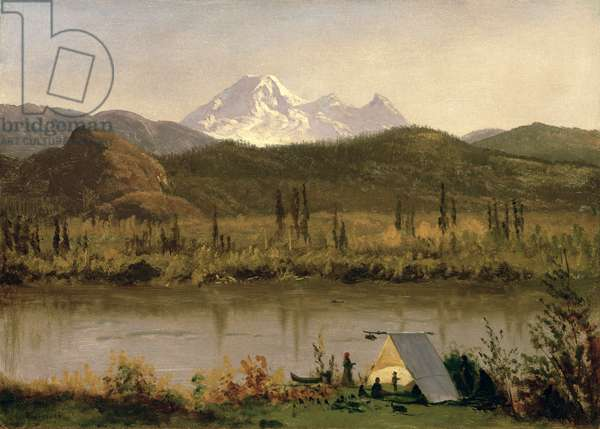 Mount Baker, Washington, from the Frazier River, c.1889 (oil on paper mounted on canvas)