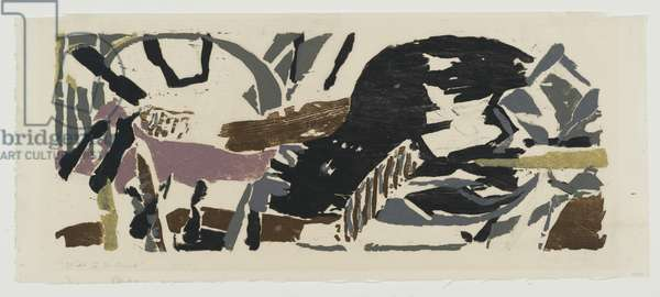 Wide to the Wind, 1955 (colour woodcut)