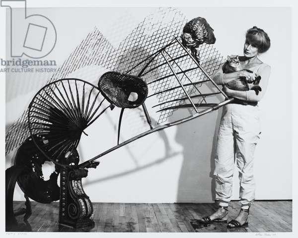 Nancy Graves (Sculpture), 1989 (gelatin silver photograph on fiber based paper)