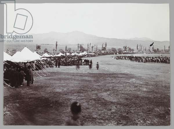 Horserace in Bagh-e-Shah, late 19th-early 20th century (silver gelatin print)