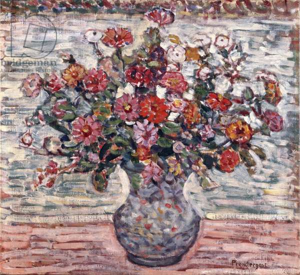 Flowers in a Vase, c.1910-13 (oil on canvas)