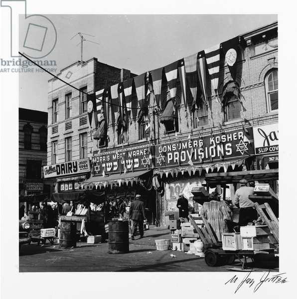 Morris Meat Market (Blake Avenue) from the Series 'An Era Past: Photographs of Brownsville and East New York, Brooklyn', 1951, printed 1995 (gelatin silver print)