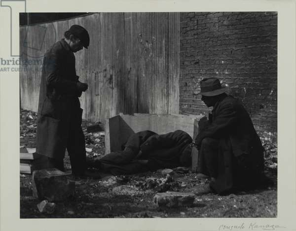 The Bowery, New York, 1935 (gelatin silver, toned print)