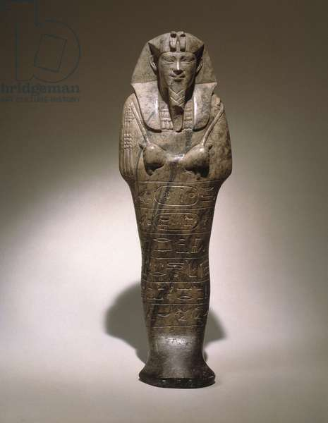 Ushabti of Senkamanseken, from Ethiopia (grey limestone)