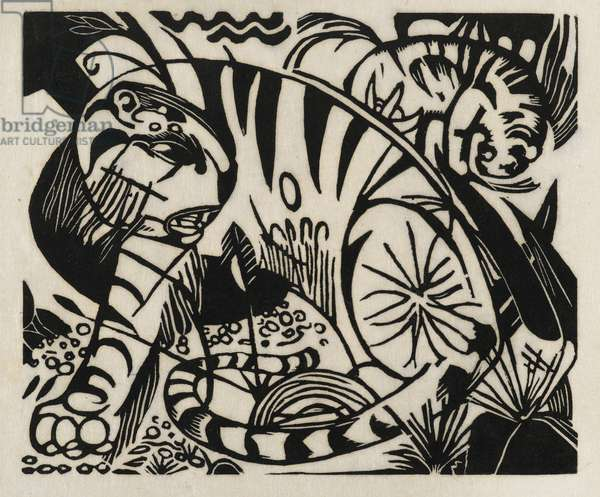 Tiger, 1912 (woodcut on Japan paper)