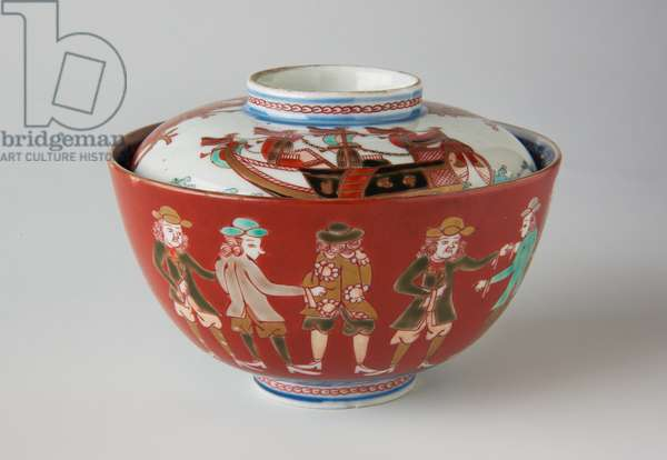Rice Bowl and Cover, possibly 19th century (Ko-Imari ware, porcelain with underglaze blue and overglaze enamel)