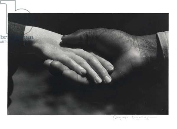 Hands, 1930 (gelatin silver print)