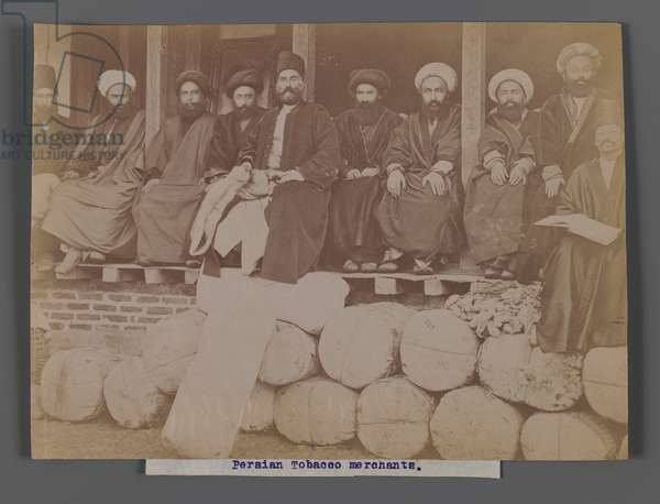 Persian Tobacco Merchants, late 19th-early 20th century (silver albumen photo)